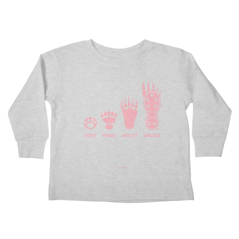 Bear Paws Pink Kids Toddler Longsleeve T-Shirt by Brian Harms