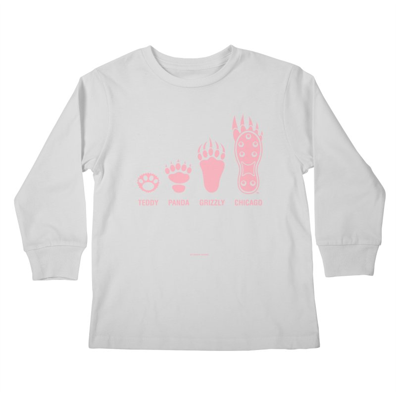 Bear Paws Pink Kids Longsleeve T-Shirt by Brian Harms