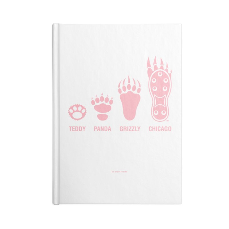 Bear Paws Pink Accessories Blank Journal Notebook by Brian Harms