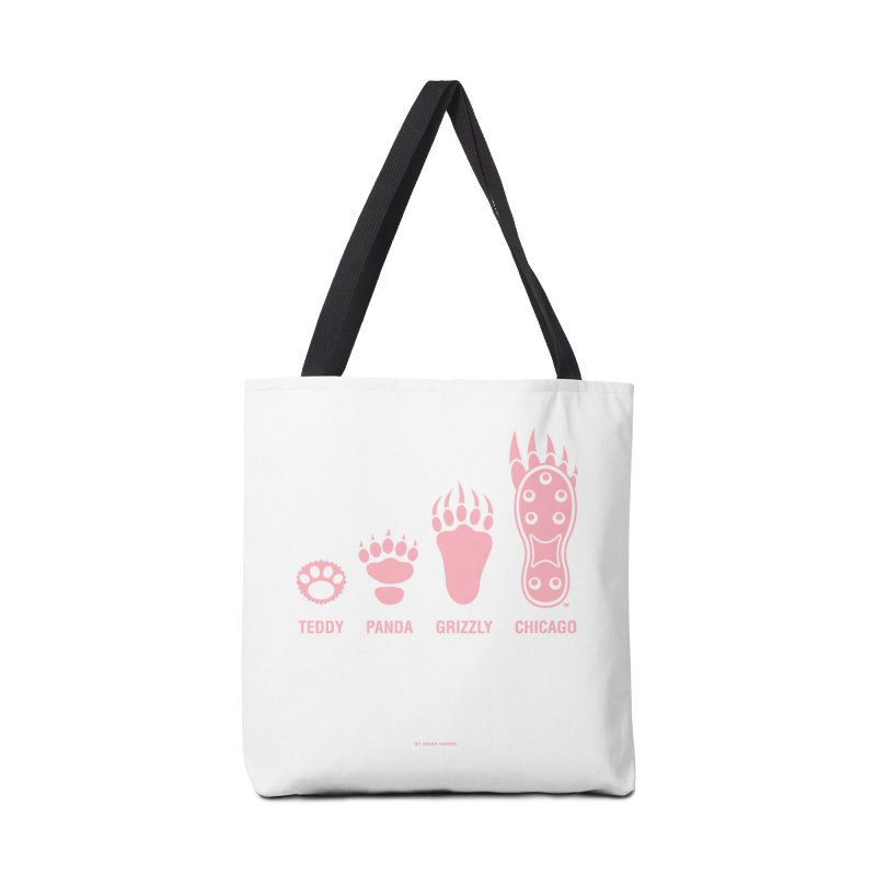 Bear Paws Pink Accessories Tote Bag Bag by Brian Harms