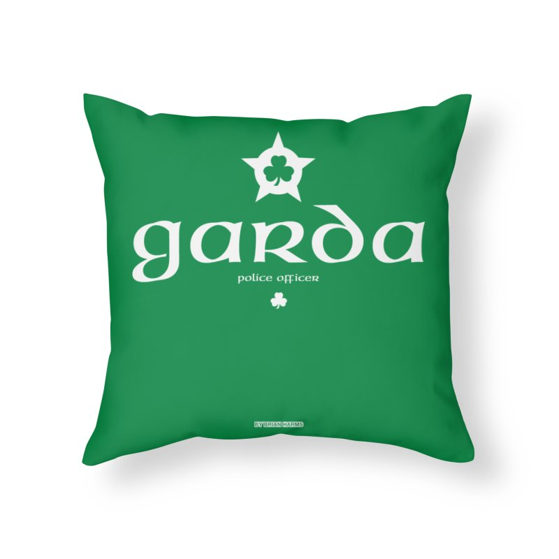 Irish Police Home Throw Pillow by Brian Harms