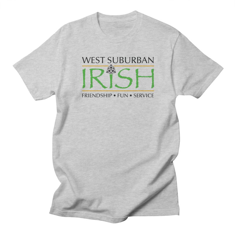 Irish - West Suburban Irish 1 in Men's Regular T-Shirt Heather Grey by Brian Harms