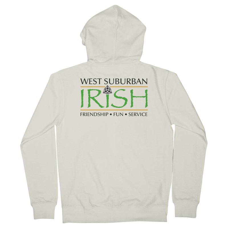 Irish - West Suburban Irish 1 Men's French Terry Zip-Up Hoody by Brian Harms