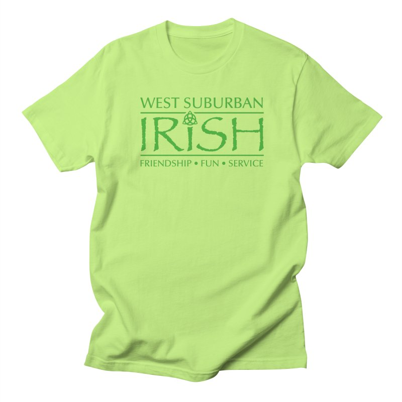 Irish - West Suburban Irish 3 in Men's Regular T-Shirt Neon Green by Brian Harms