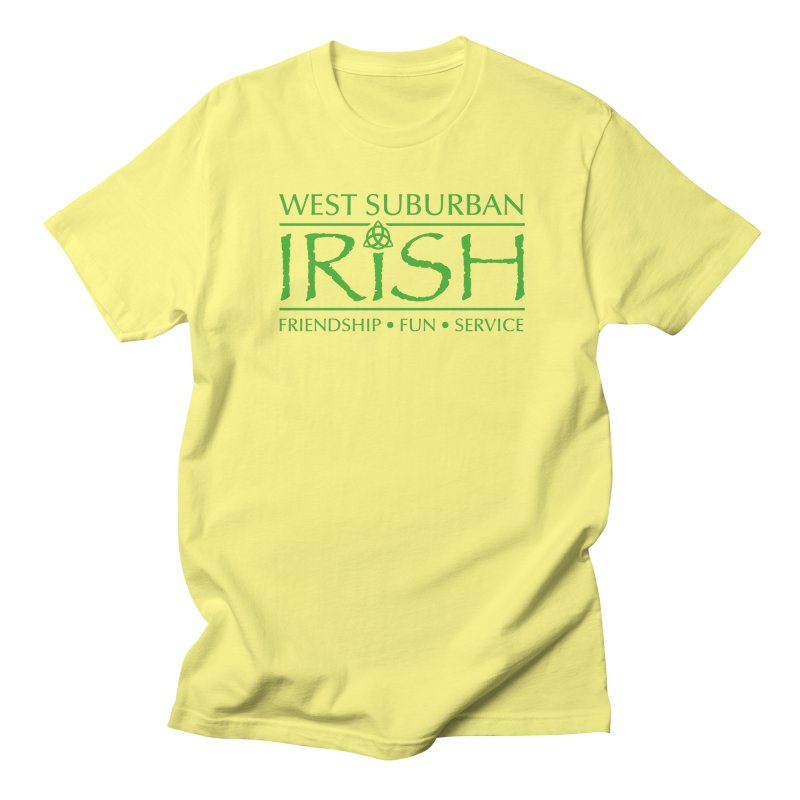 Irish - West Suburban Irish 3 in Men's Regular T-Shirt Lemon by Brian Harms