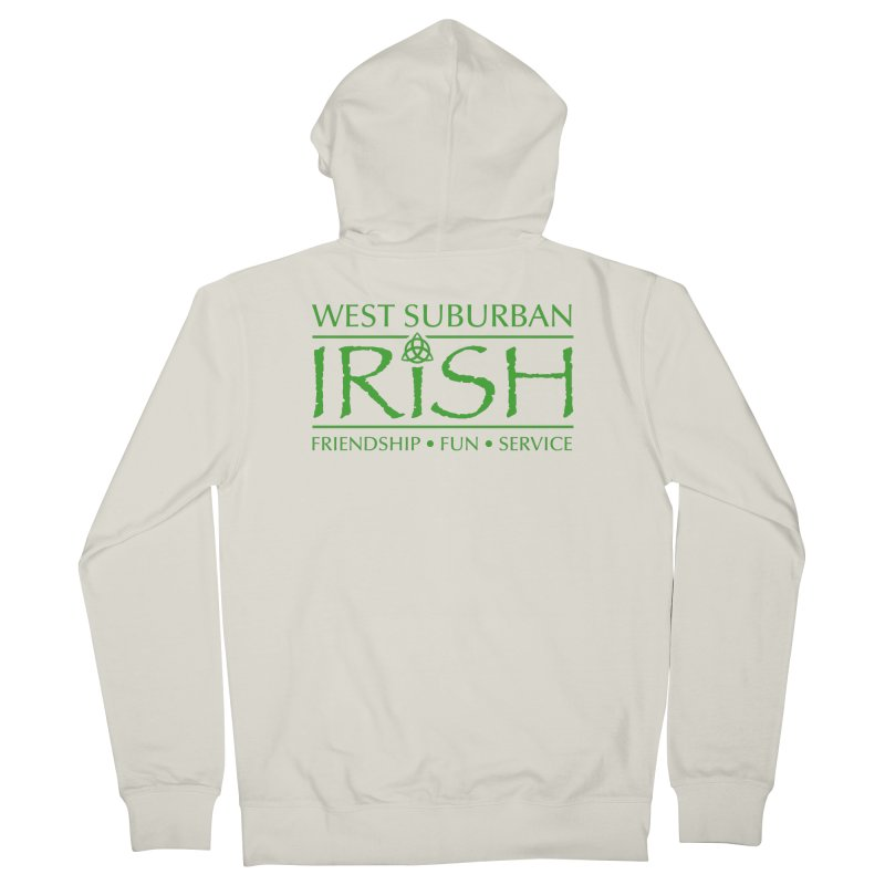 Irish - West Suburban Irish 3 Men's French Terry Zip-Up Hoody by Brian Harms