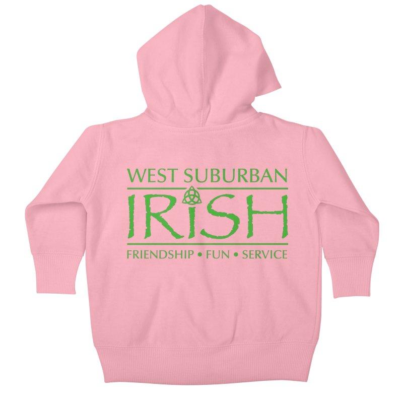 Irish - West Suburban Irish 3 Kids Baby Zip-Up Hoody by Brian Harms