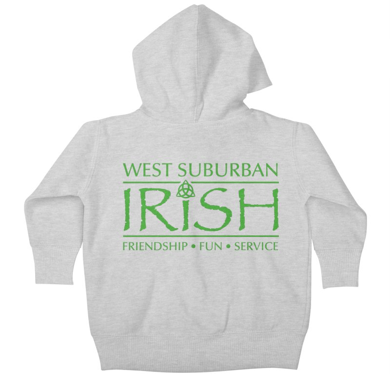 Irish - West Suburban Irish 3 Kids Baby Zip-Up Hoody by Brian Harms