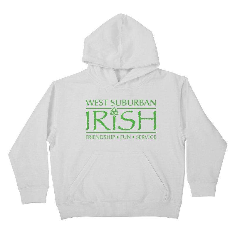 Irish - West Suburban Irish 3 Kids Pullover Hoody by Brian Harms