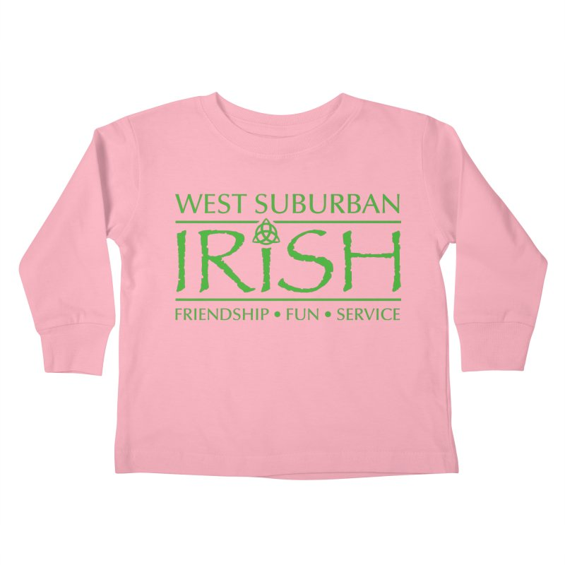 Irish - West Suburban Irish 3 Kids Toddler Longsleeve T-Shirt by Brian Harms