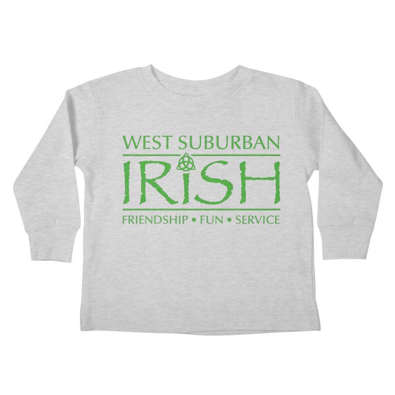 Irish - West Suburban Irish 3 Kids Toddler Longsleeve T-Shirt by Brian Harms