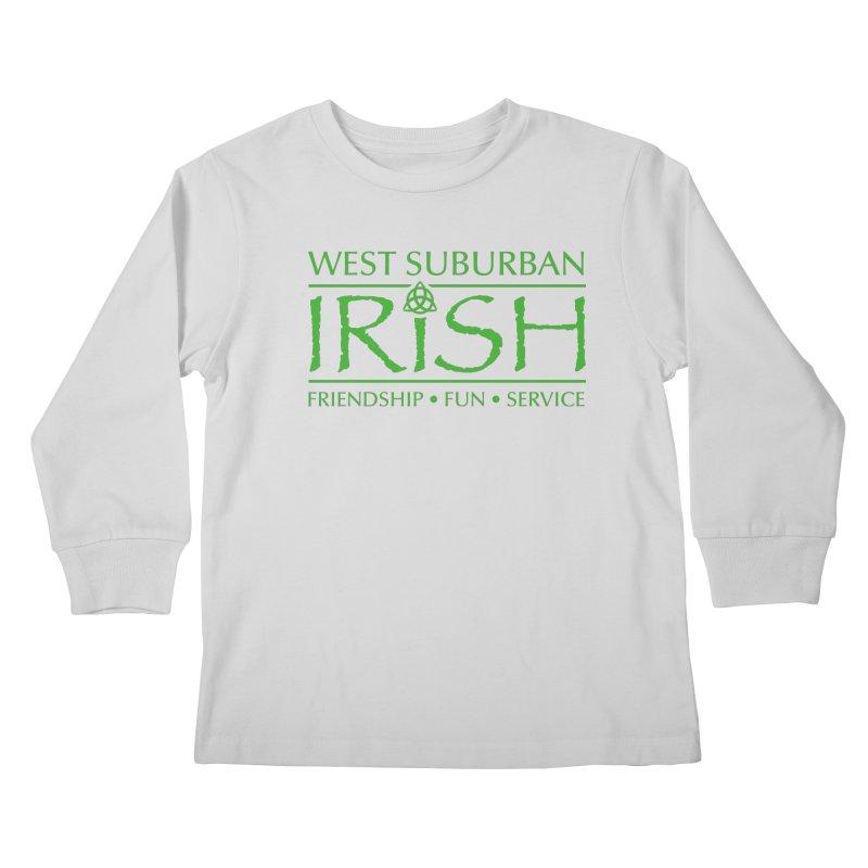 Irish - West Suburban Irish 3 Kids Longsleeve T-Shirt by Brian Harms