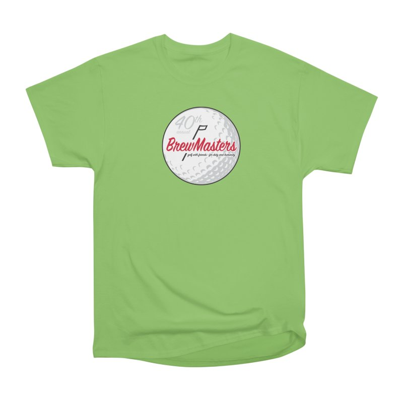 Brewmasters_Golf_40th Women's Heavyweight Unisex T-Shirt by Brian Harms