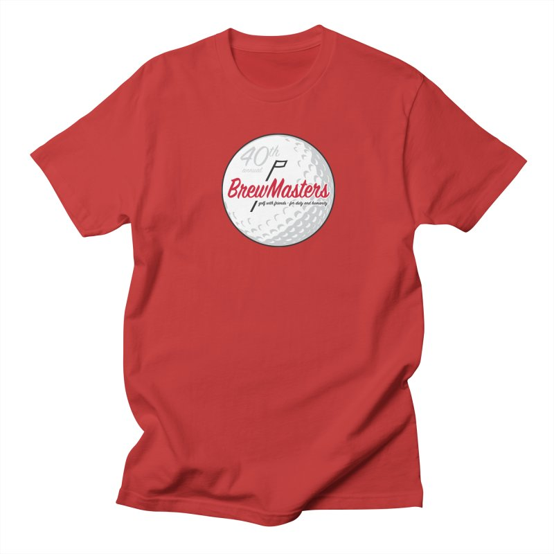 Brewmasters_Golf_40th in Men's Regular T-Shirt Red by Brian Harms
