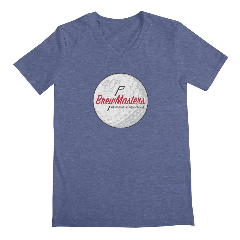 Brewmasters_Golf_40th Men's Regular V-Neck by Brian Harms