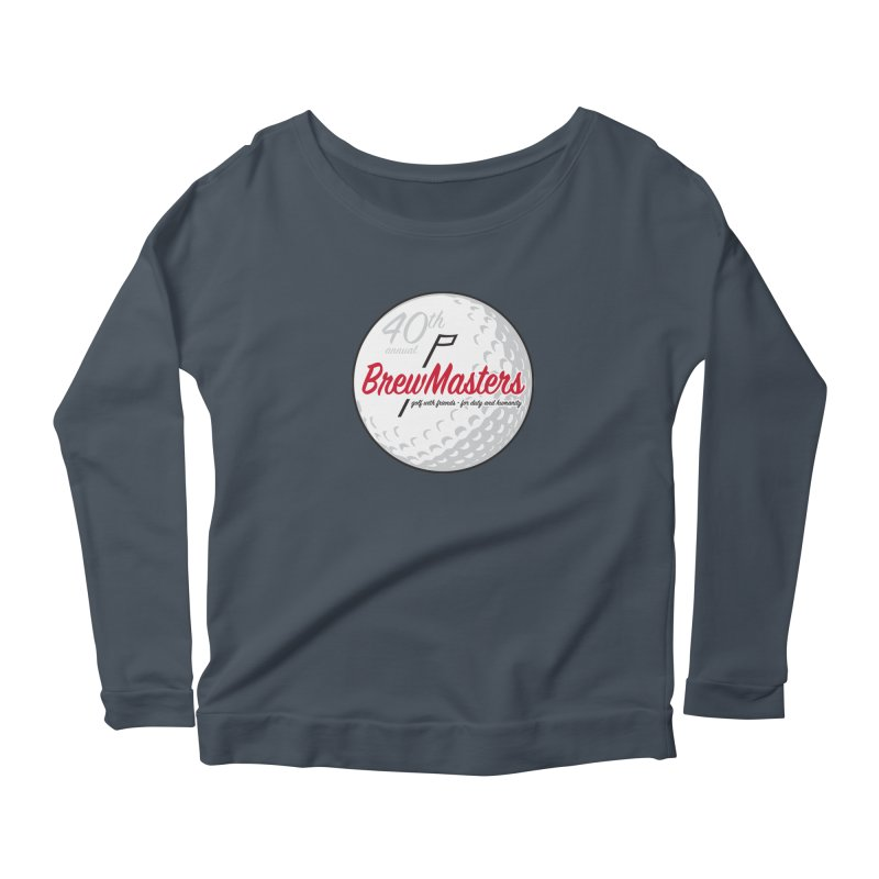Brewmasters_Golf_40th Women's Scoop Neck Longsleeve T-Shirt by Brian Harms