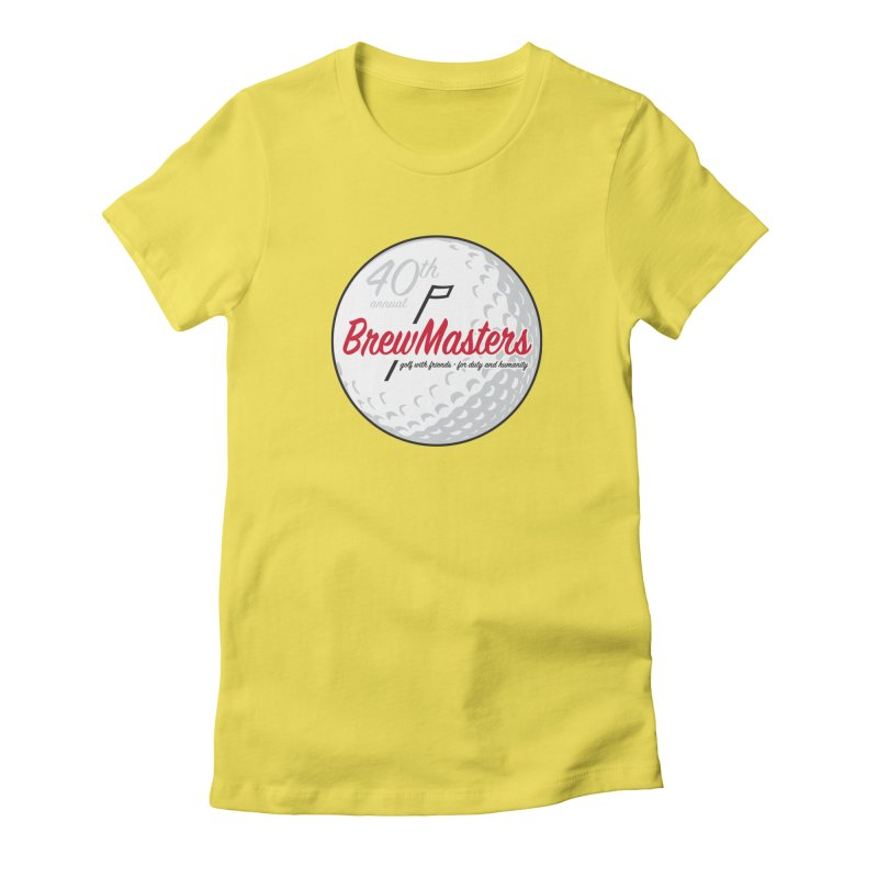 Brewmasters_Golf_40th Women's Fitted T-Shirt by Brian Harms