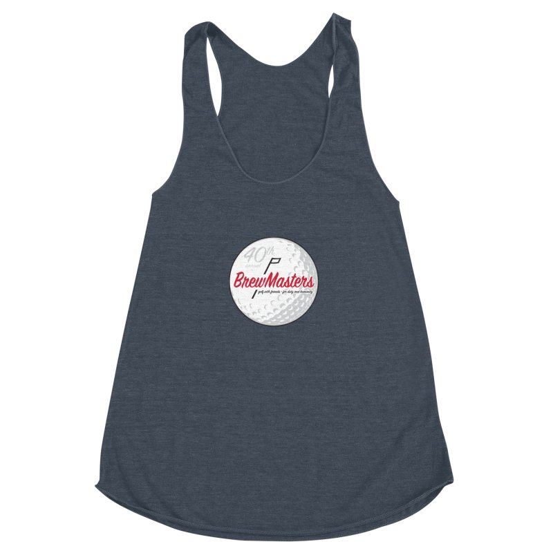Brewmasters_Golf_40th Women's Racerback Triblend Tank by Brian Harms