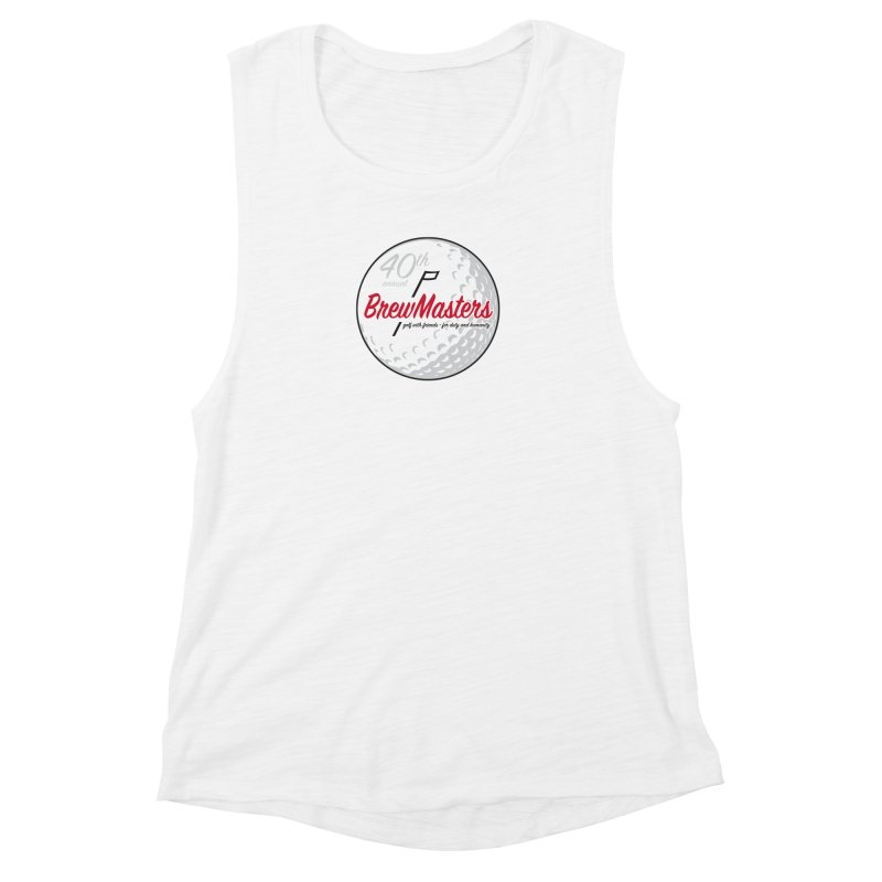 Brewmasters_Golf_40th Women's Muscle Tank by Brian Harms