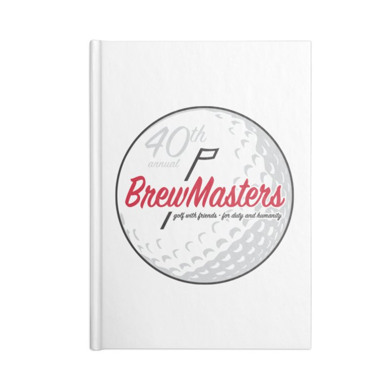 Brewmasters_Golf_40th Accessories Blank Journal Notebook by Brian Harms
