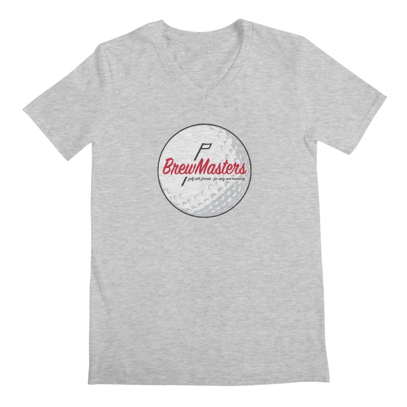 Brewmasters_Golf_2 Men's Regular V-Neck by Brian Harms