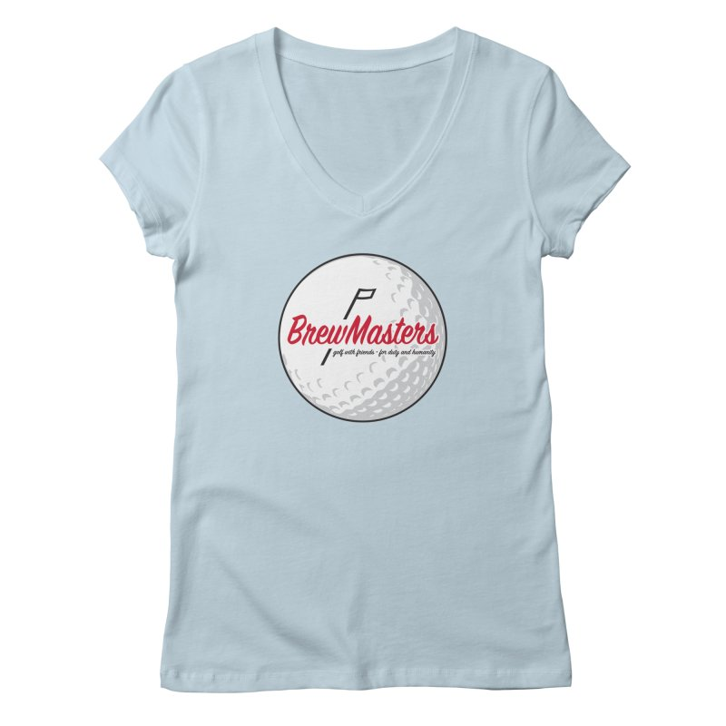 Brewmasters_Golf_2 Women's Regular V-Neck by Brian Harms