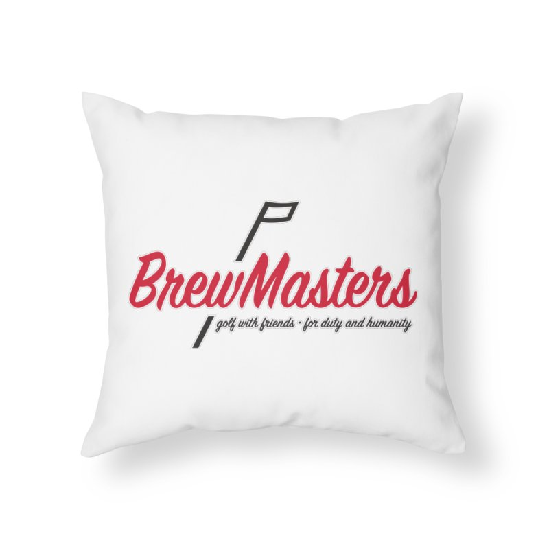 Brewmasters_Golf Home Throw Pillow by Brian Harms