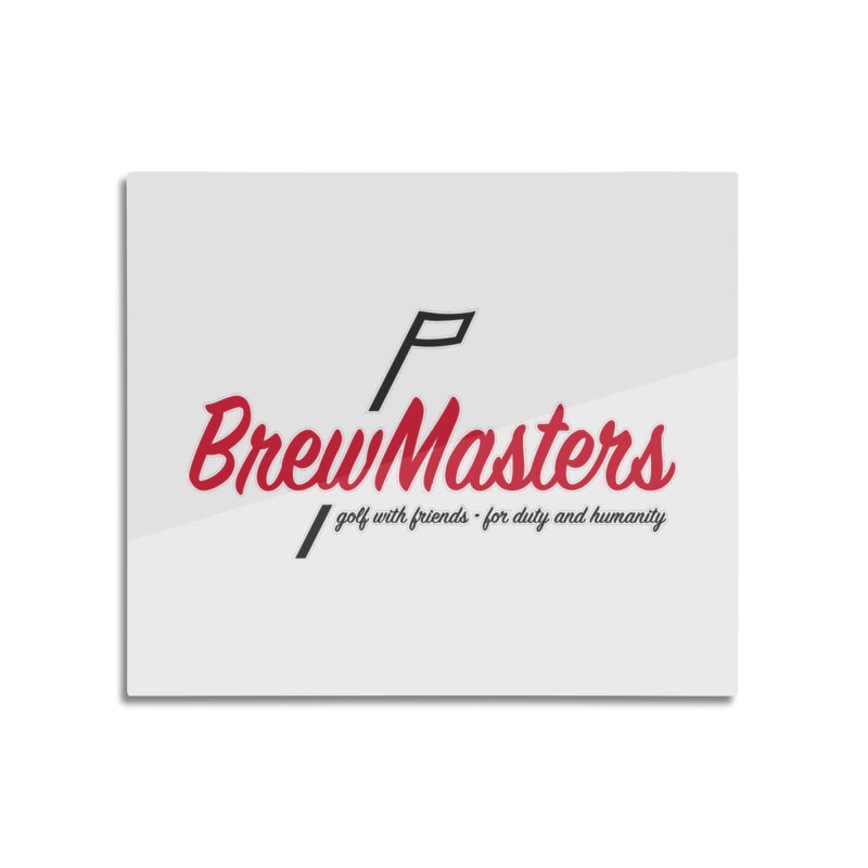 Brewmasters_Golf Home Mounted Aluminum Print by Brian Harms