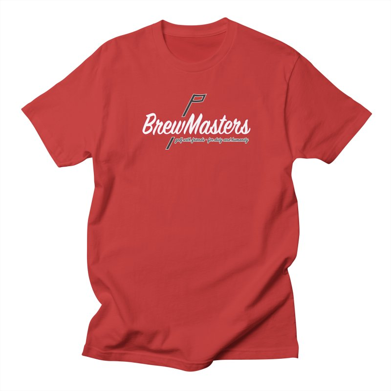 Brewmasters_Golf_REV in Men's Regular T-Shirt Red by Brian Harms