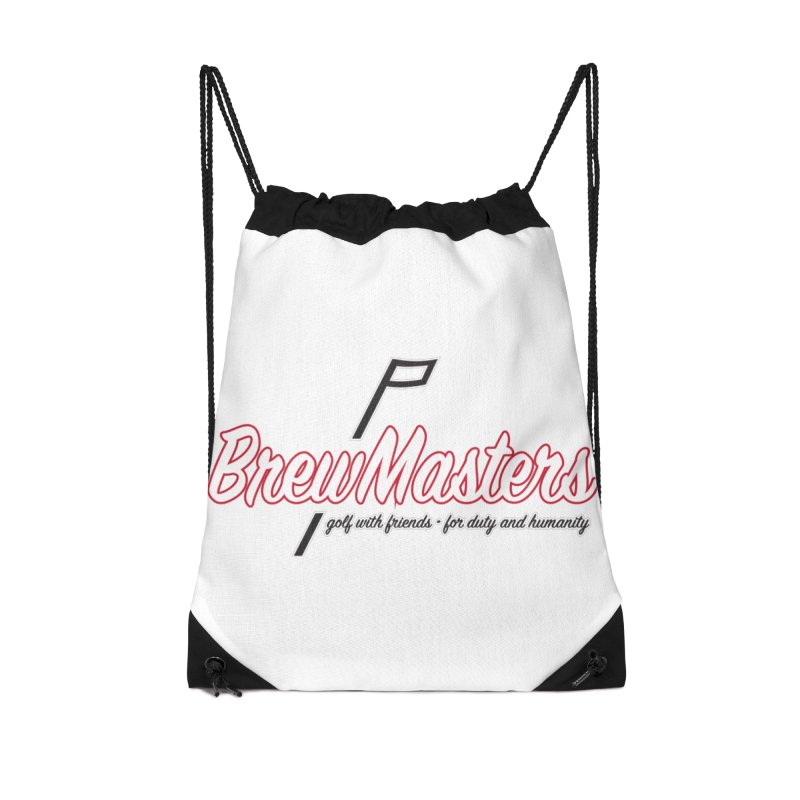 Brewmasters_Golf_REV Accessories Drawstring Bag Bag by Brian Harms