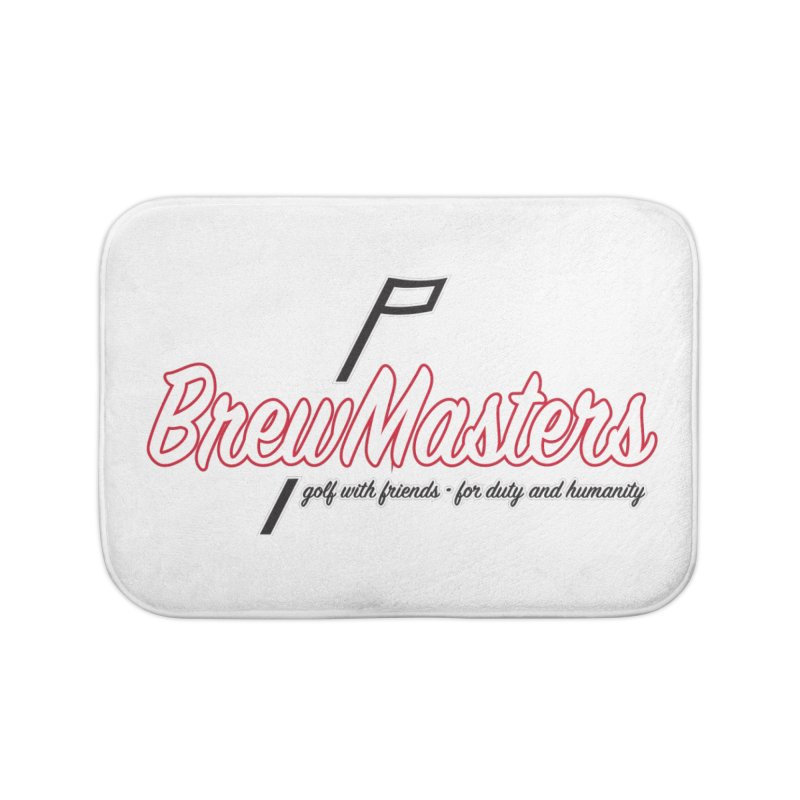 Brewmasters_Golf_REV Home Bath Mat by Brian Harms