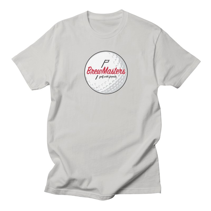 Brewmasters_Golf_with_Friends in Men's Regular T-Shirt Stone by Brian Harms