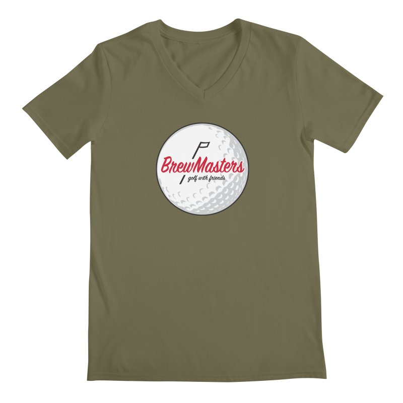 Brewmasters_Golf_with_Friends Men's Regular V-Neck by Brian Harms