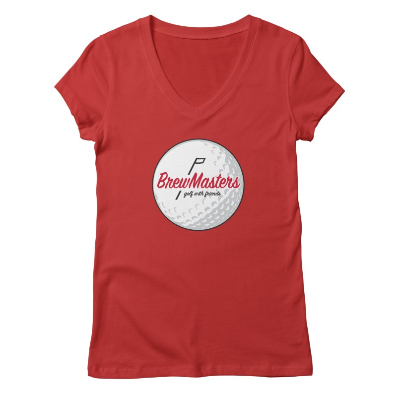 Brewmasters_Golf_with_Friends Women's Regular V-Neck by Brian Harms