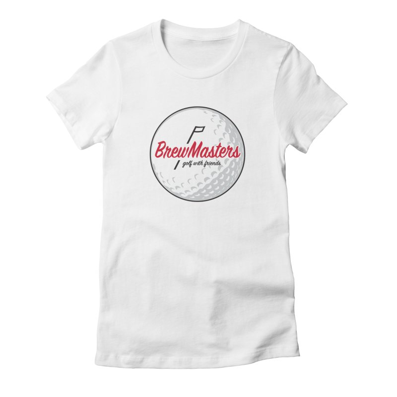 Brewmasters_Golf_with_Friends Women's Fitted T-Shirt by Brian Harms