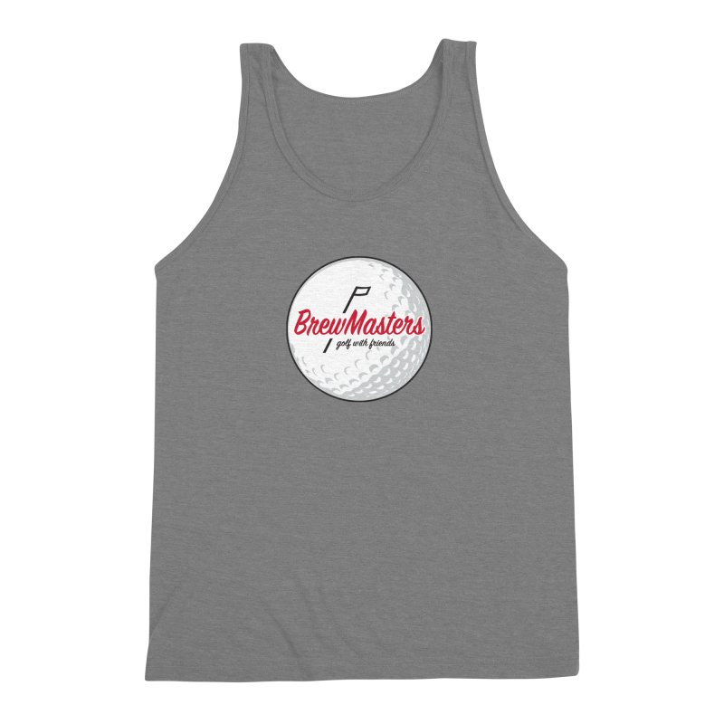 Brewmasters_Golf_with_Friends Men's Triblend Tank by Brian Harms