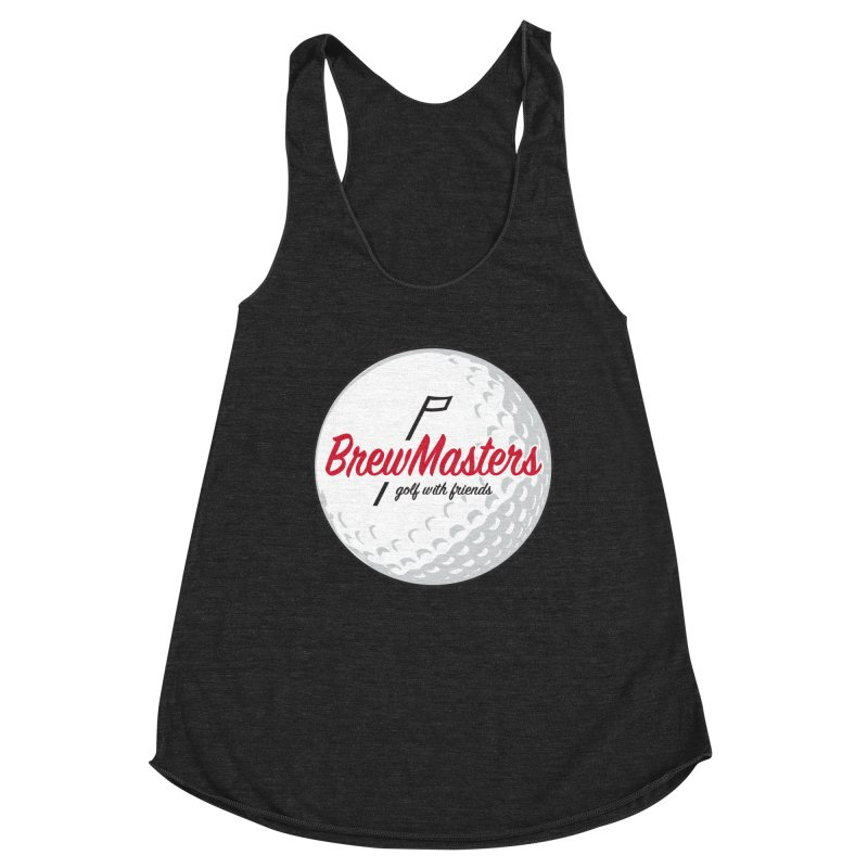 Brewmasters_Golf_with_Friends Women's Racerback Triblend Tank by Brian Harms