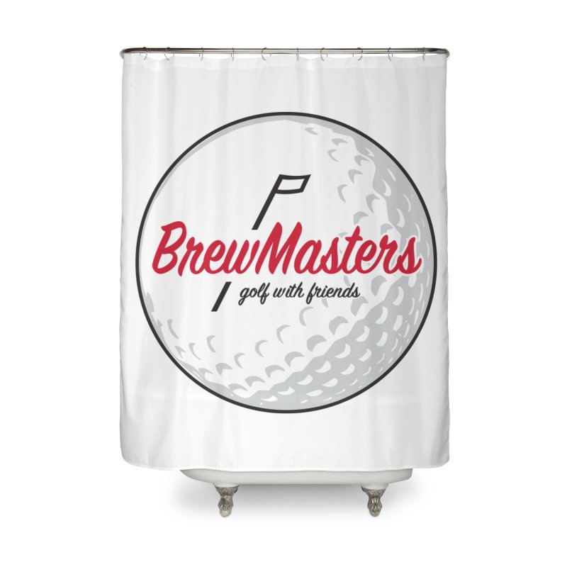 Brewmasters_Golf_with_Friends Home Shower Curtain by Brian Harms