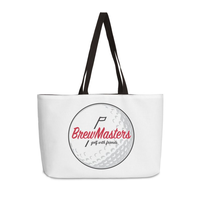 Brewmasters_Golf_with_Friends Accessories Weekender Bag Bag by Brian Harms