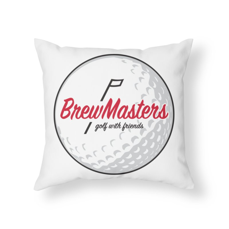 Brewmasters_Golf_with_Friends Home Throw Pillow by Brian Harms