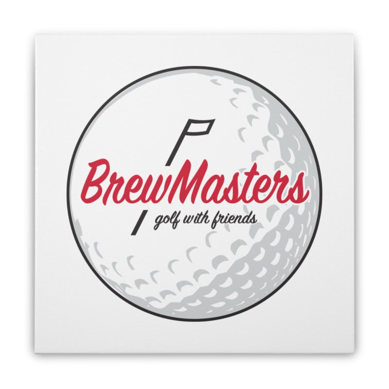 Brewmasters_Golf_with_Friends Home Stretched Canvas by Brian Harms