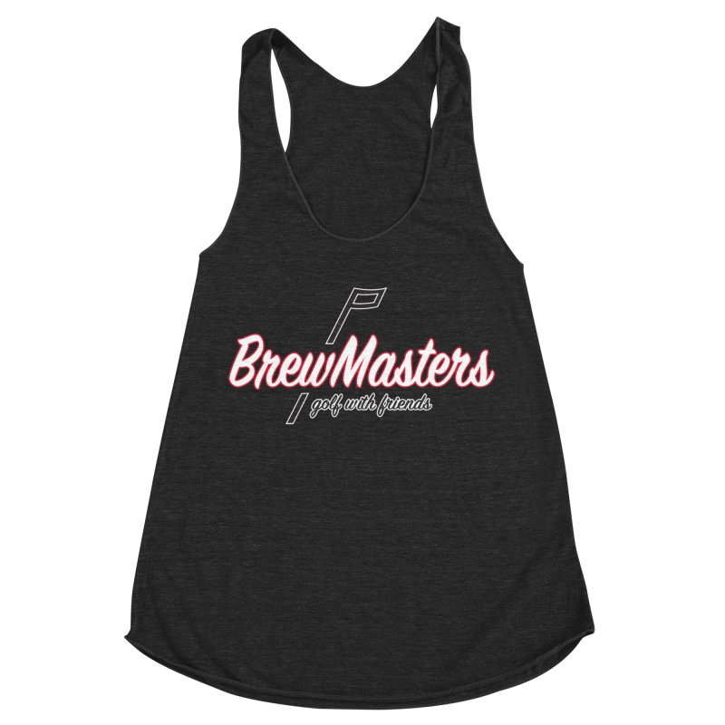Brewmasters_Golf_REV_2 Women's Racerback Triblend Tank by Brian Harms