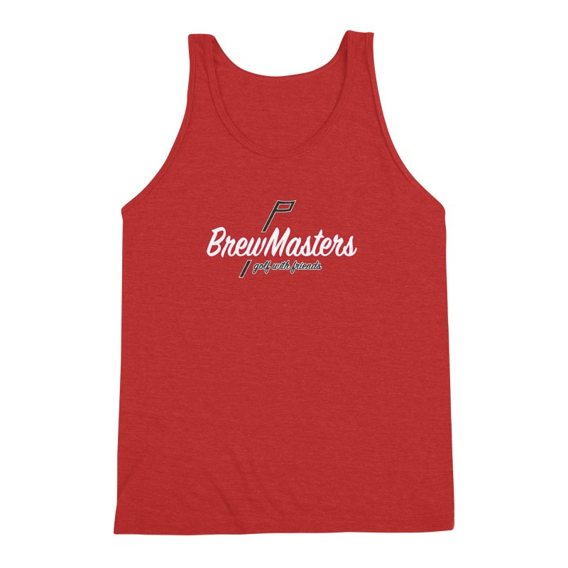 Brewmasters_Golf_REV_2 Men's Triblend Tank by Brian Harms