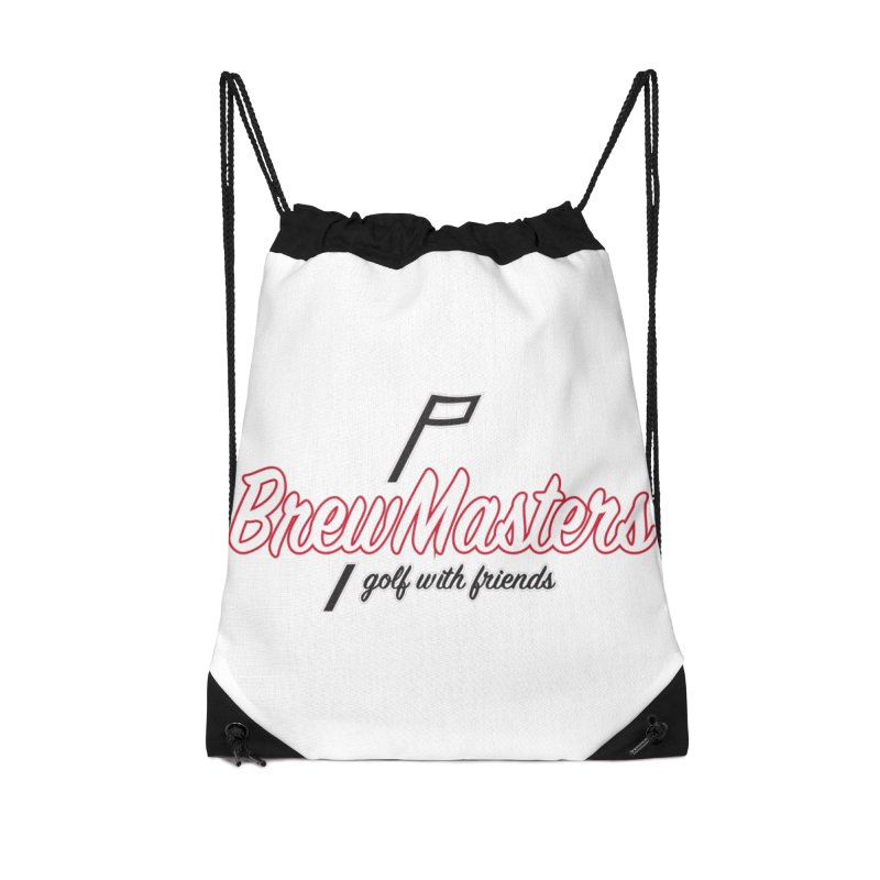 Brewmasters_Golf_REV_2 Accessories Drawstring Bag Bag by Brian Harms