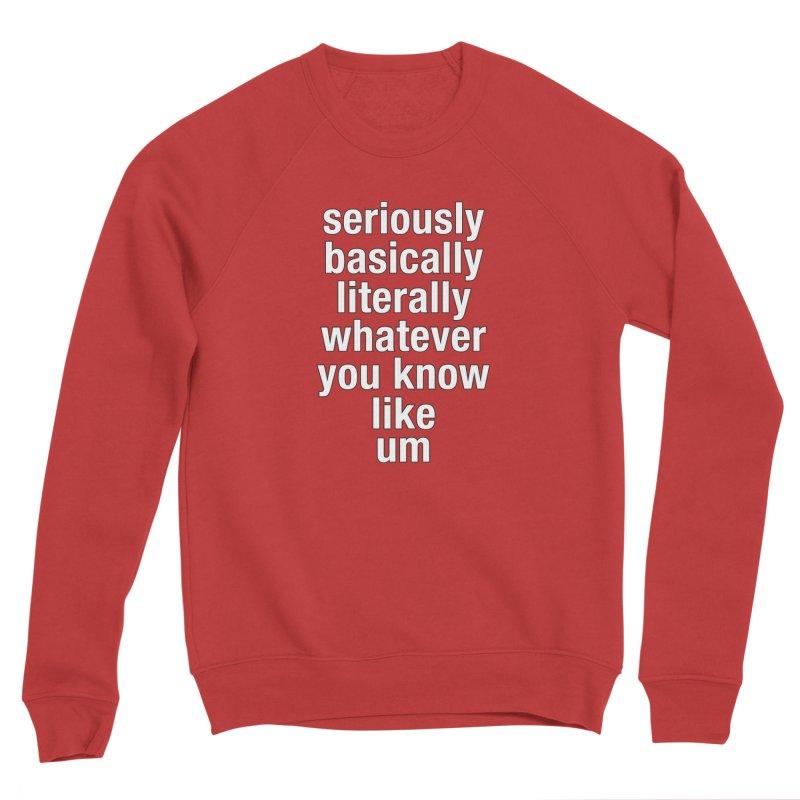 Overused_Words_2 Women's Sponge Fleece Sweatshirt by Brian Harms