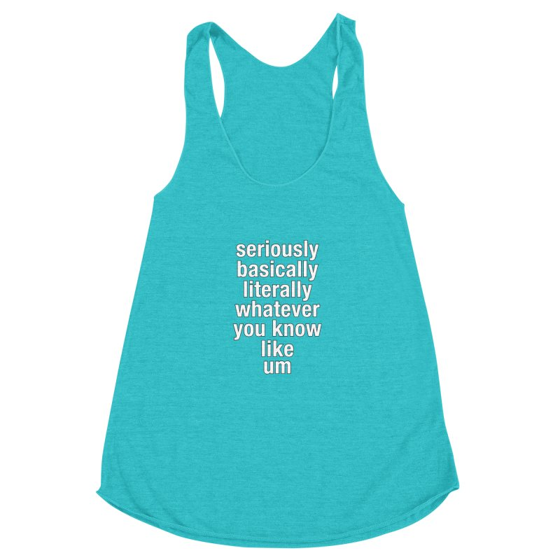 Overused_Words_2 Women's Racerback Triblend Tank by Brian Harms