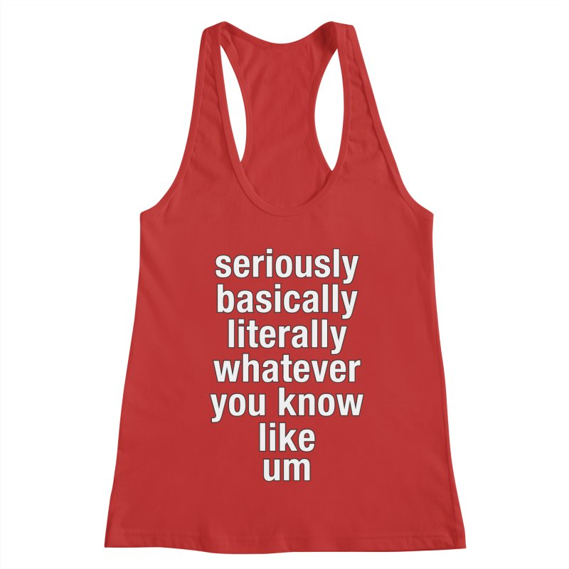 Overused_Words_2 Women's Racerback Tank by Brian Harms