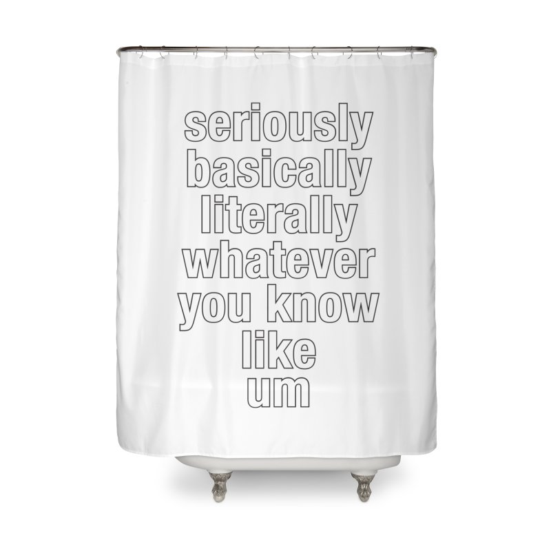Overused_Words_2 Home Shower Curtain by Brian Harms