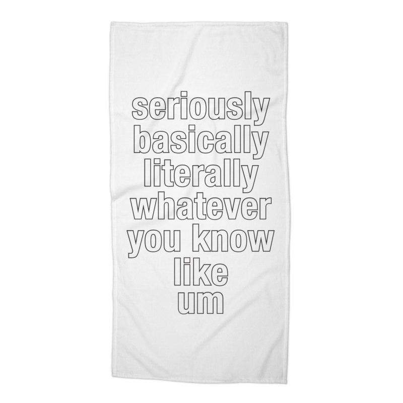Overused_Words_2 Accessories Beach Towel by Brian Harms
