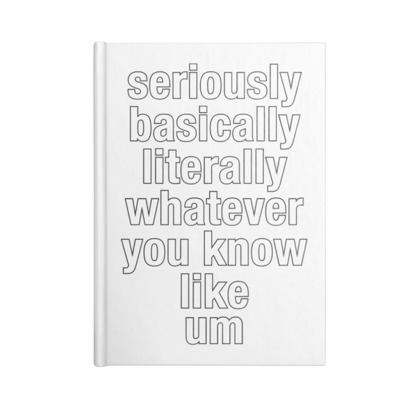 Overused_Words_2 Accessories Blank Journal Notebook by Brian Harms
